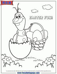 Frozen Character Olaf Hatching From Easter Egg Coloring Page