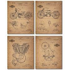 Harley Davidson Patent Wall Art Prints