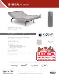 Split King Adjustable Bed Sheets by Electric Adjustable Beds Lebeda Mattress Factory