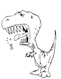 Cartoon Dinosaur Coloring Pages