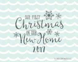 Our First Christmas In New Home SVG Cricut Explore More