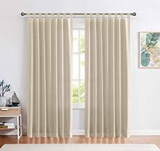 ckny gardinen schlaufenschal voile fenster vorhang mit schlaufen halb transparent schlafzimmer wohnzimmer 2 stück 225 cm x 140 cm h x b 2er set taupe