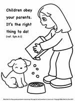 Mothers Day Printable Coloring Page For Preschool Children It Says Obey Your Parents