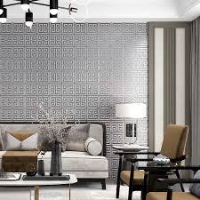 klassischen chinesischen stil wandbild grid tapete 3d beflockung wohnzimmer schwarz grau silber tapeten rolle projekt wand papiere j231