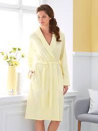 robe de chambre en charmor la robe de chambre en pur coton col châle jaune