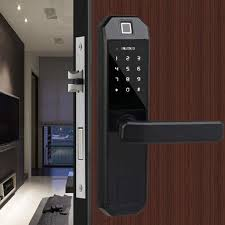 türschloss mit fingerabdruck schwarz smart glas fingerprint passwort tür digital biometrisches türschloss