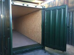 100 Shipping Container 40ft X 8ft Green Used Ply Lined