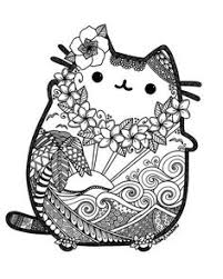 Pusheen Coloring Book The Cat See More Hawaii By Lxoetting