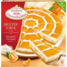 coppenrath wiese meistertorte mandarinen frischkäse torte tiefgefroren 1 1 kg packung