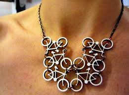 This bicycle necklace is so cool it leaves me speechless