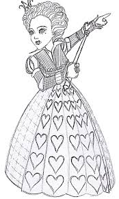 Free Printable Alice In Wonderland Coloring Pages This Page Contains Caterpillar Mad Hatter Tim Barton And Queen Of Hearts