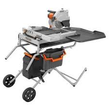 Dewalt Tile Saws Home Depot by Ridgid 10 In Portable Tile Saw With Laser R4010 At The Home Depot