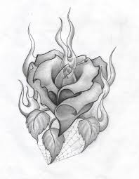 Drawing Of A Heart And Rose Roses Tattoo Drawings