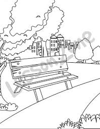 Beautiful Playground Clipart Black And White Park Scene Clipartxtras