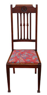 Set Of 6 Mahogany Dining Chairs Art Nouveau   517550 ... Antique Vintage Art Nouveau Style Set Of 4 Carved Oak Ding Chairs Of Six French Louis Majorelle Caned Mahogany Unusual Victorian Walnut Wrought Iron Floral Lovely Important By Ernesto Basile For Ducrot 6 517550 Ding Chairs Art Nouveau Chair Set Sold Eight Period Tallback Stunning Inlaid High Back 2 Vinterior Fniture Antique Cupboards Tables