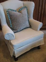 Grey Wingback Chair Slipcovers by Custom Slipcovers By Shelley March 2011