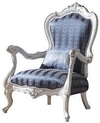 casa padrino luxus barock wohnzimmer sessel mit dekorativem kissen blau weiß silber 80 x 75 x h 120 cm prunkvolle barock möbel