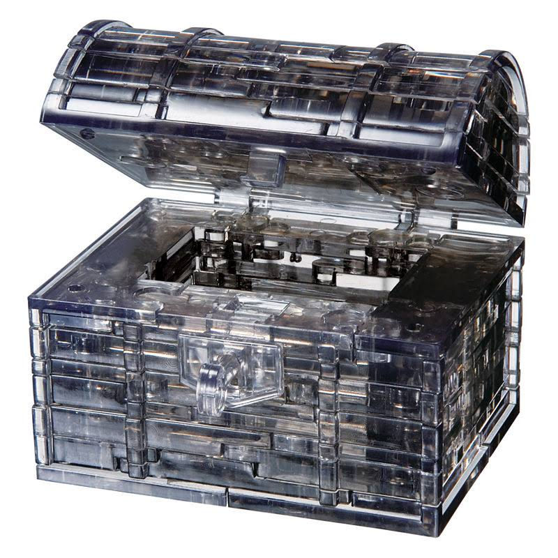 University Games 3D Crystal Puzzle - Black Treasure Chest, 52pcs