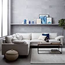 harmony l shaped sectional west elm shapes and oatmeal