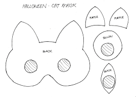 Cat Mask Template Carnival Masks To Print Out Coloring Inside Page