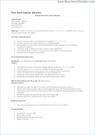 Fast Food Manager Resume Sample Restaurant Examples Great Server
