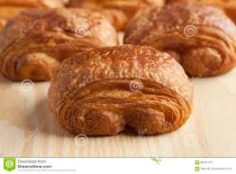 Download Chocolate Croissants Close Up Stock Photo