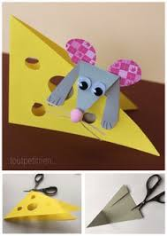 Petite Souris Bricolee Avec Nos Chutes De Papiers Cartonnes Toutpetitriench Animal Crafts For KidsEasy