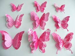 Paper Butterflies Wall Decor Ideas