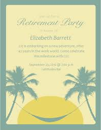 Retirement Party Invitation Stunning Made With Beach Theme