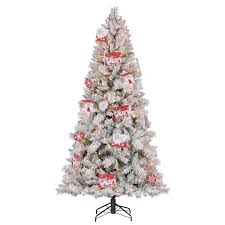 Cracker Barrel Ceramic Christmas Tree Replacement Bulbs by Flocked Christmas Tree Ebay