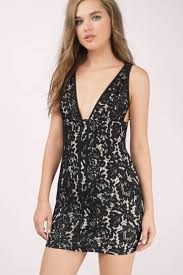 black and dress ivory lace overlay dress bodycon dress 28