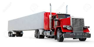 An 18 Wheeler Semi-Truck On White. Stock Photo, Picture And Royalty ...