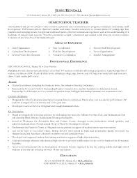 Resume Samples High School Graduate Example Examples Teacher Free Sample Format