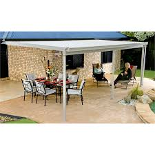 absco sheds 6 0 x 3 0 x 3 00m w50 awning paperbark bunnings