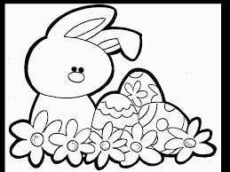 Easter Bunny Clip Art Coloring Pages