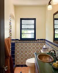 tile bathroom rustic bathroom mediterranean with painted tile