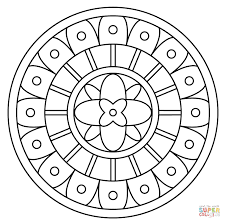 Click The Mandala With Abstract Pattern Coloring Pages