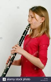 100 Ab Flat Girl Playing A B Flat Clarinet Made By Jupiter Stock Photo