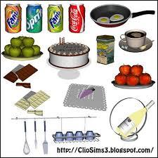 Sims 3 Kitchen Furniture Set Decor Objects