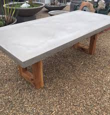 Concrete Timber Dining Table