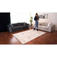 besyildiz designer teppich wohnzimmer velours emboss hellbeige