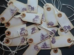 Rustic Book Theme Tags For Favors Thank You Gift