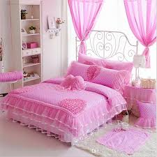 luxury cotton bedding sets polka dot lace kids crib bedding duvet