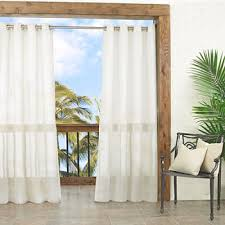 Jcpenney Sheer Grommet Curtains by Outdoor Curtains U0026 Outdoor Shades Jcpenney