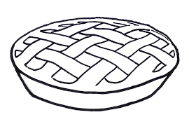 Thanksgiving Pie Clipart Black And White 26