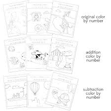 Color By Number Subtraction Without Regrouping Kindergarten Worksheets Printable
