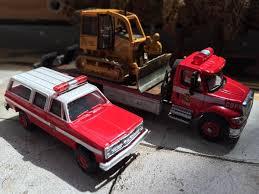 100 Custom Flatbed Trucks CDF Cal Fire Cat Dozer And Truck W Suburban