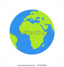 Isolated Planet Earth White Background Stock Vector
