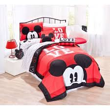 Mickey Mouse Bathroom Decor Walmart by Disney Mickey Mouse Classic Luv Bedding Quilt Set Walmart Com