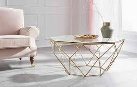 guido kretschmer home living couchtisch caen aus glas und metall in geometrischen formen breite 95 cm